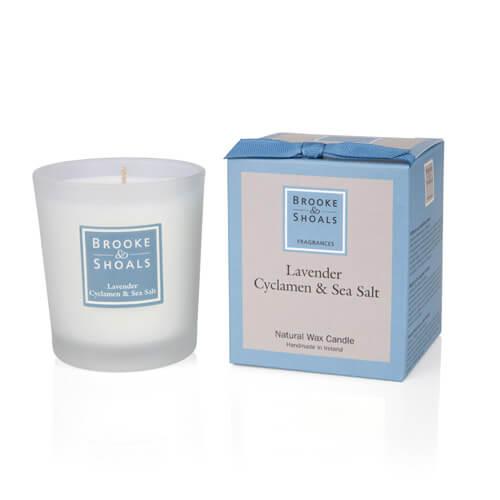 Duftkerze Lavendel Alpenveilchen Meersalz